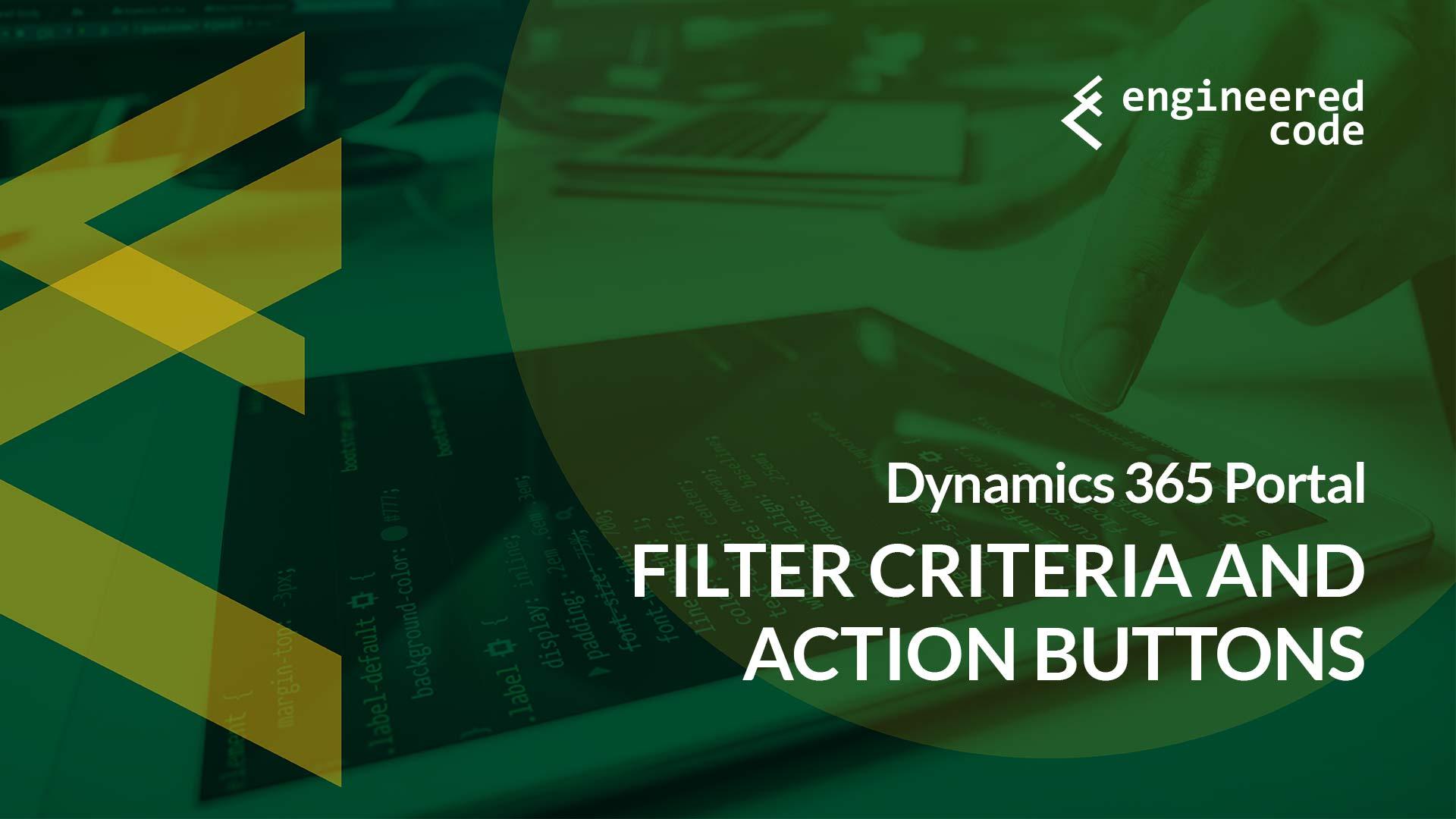 Engineered Code - Blog - Dynamics 365 Portal: Filter